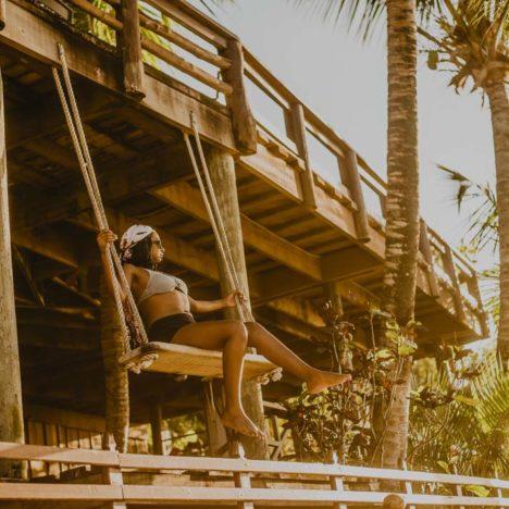 Tranquilseas Hotel Resort Roatan - terasa s houpačkou